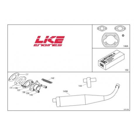 Original Schalldämpfer LKE 60cc (3 Arten), MONDOKART, kart, go