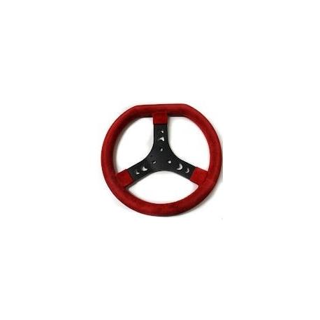 Volante scamosciato rosso (320 mm) standard, MONDOKART, kart