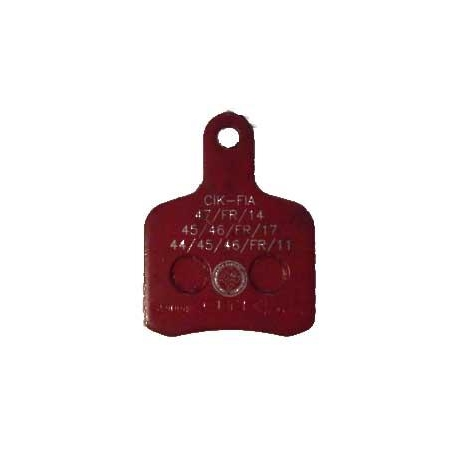 Pastiglia freno BS5 - BS6 - SA2 Rossa OTK TonyKart, MONDOKART