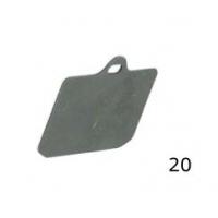 Epaisseur plaquette V99 arrière CRG