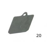 Espesor Pastilla Freno CRG V99 trasera, MONDOKART, kart, go