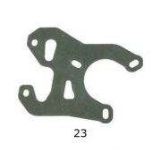Piastra supporto pinza V99 CRG, MONDOKART, Pinza Posteriore V99