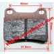 Brake pad REAR Parolin Energy PCR, mondokart, kart, kart store