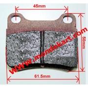 Brake pad COMPATIBLE rear Parolin Energy PCR, MONDOKART