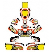 Bodyworks Stickers CRG GOLD, MONDOKART, Fairings Stickers KZ KF