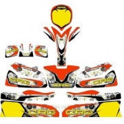 Bodyworks Stickers CRG Mini GOLD, MONDOKART, Fairings Stickers