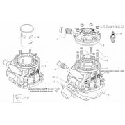 Base gasket cylinder 125cc HAT KGP BMB, MONDOKART