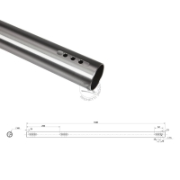 Hinterachse 40mm für Rotax DD2