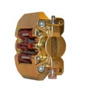 Rear brake caliper V10 V09 V05 Gold CRG, MONDOKART, Rear brake