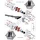 Ressort plaquettes frein 8x25mm BSM - BS2 OTK TonyKart