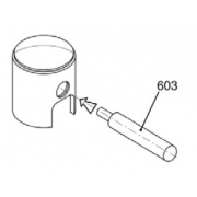 Punzone spingi spinotto (15mm) per 125cc KF OK KZ, MONDOKART
