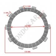 Sintered plate clutch TM, MONDOKART, Clutch TM K9