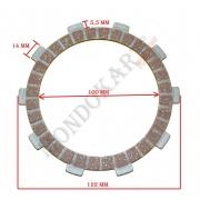 Clutch Plate Disc TM, MONDOKART, Clutch TM K8