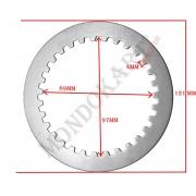 Disco frizione acciaio spessore 1,5mm TM, MONDOKART, Frizione