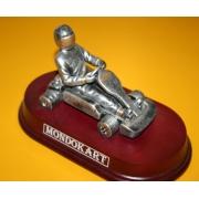 Trofeo Coppa Kart Stilizzato in metallo, MONDOKART, kart, go