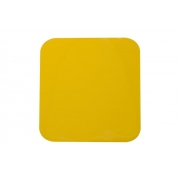 Adhesive Plate Yellow Crystal HQ, MONDOKART, Numbers and sticky