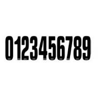 Silvered racing CRG Numbers