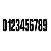 Numeri adesivi argentati Reparto Corse CRG, MONDOKART, Numeri e