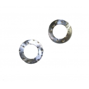 Silver Conrod Washer 18mm crank pin, MONDOKART