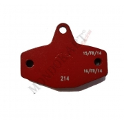 Front brake pad V08 CRG, MONDOKART, V08 system (KF and KZ)