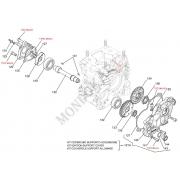 Seat gaskets Mass countershaft cover Iame OK - OKJ, MONDOKART