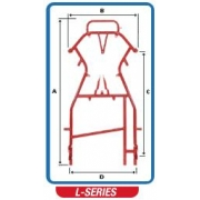 Body BirelArt B25-X Baby 50cc Easykart, MONDOKART, Bare frames