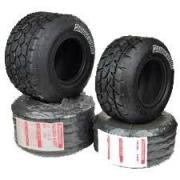 Juego Neumáticos Set Bridgestone lluvia YFD Minirok, MONDOKART