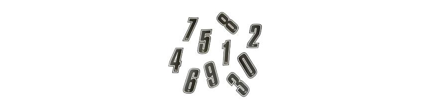Nummerntafel - Aufkleber Nummer