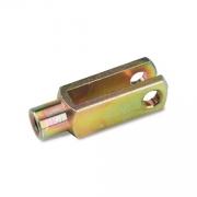 Forcella M6 acciaio 36mm zincata oro